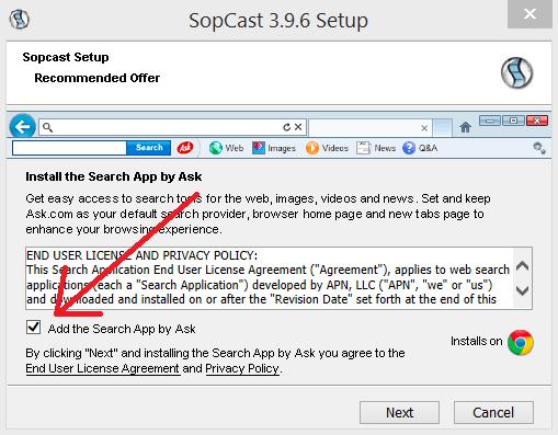 sopcast barra ask